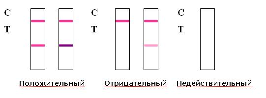 Контрацепция с применением тестов на овуляцию Тестовая линия Т такого же цвета или темнее чем контрольная линия С Такой результат указывает на то что через 24 48 часов произойдет овуляция